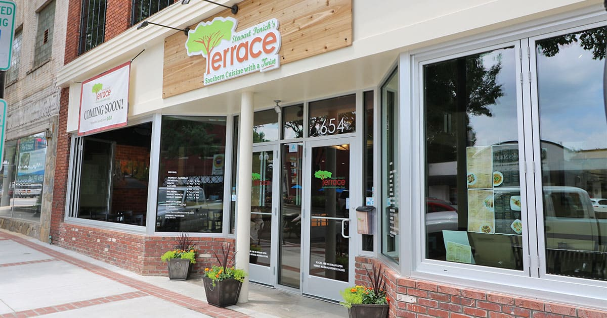 Terrace restaurant greenville on the rise for The terrace bar and food