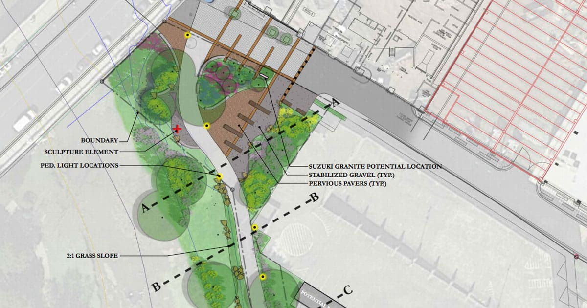 New Landscaping for Falls Park Under Review